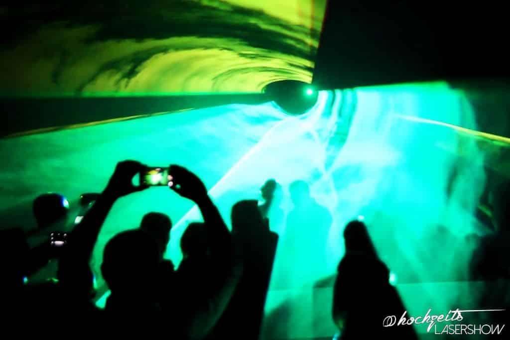 Lasershow Hochzeit Grafik aus dem eigenen Leben