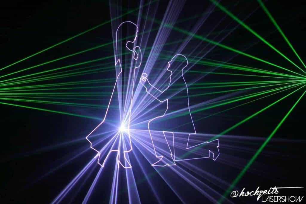 Lasershow als Highlight für Hochzeiten