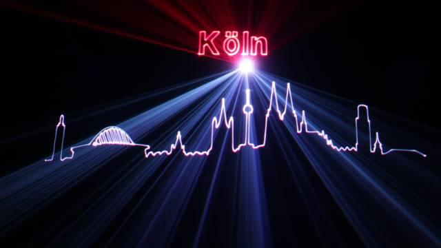 Lasershow in Köln Hochzeit