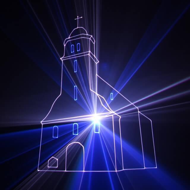 Lasershow individuell Kirchliche Hochzeit