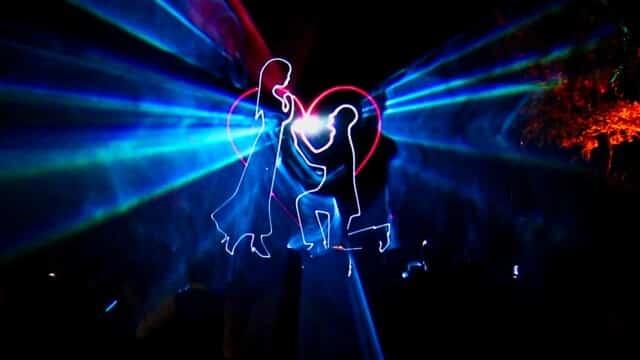 Lasershow zur Hochzeit für Jana und Robert