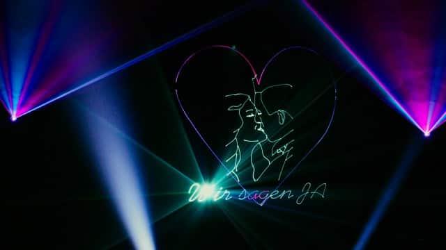 Lasershow zur Hochzeit für Dilara und Vinna