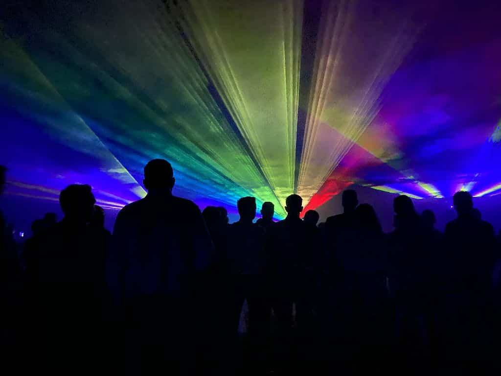 Lasershow zur Hochzeitsfeier mit Ambiente Licht