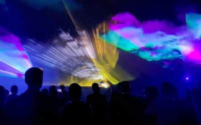 Lasershow zur Hochzeit für Sina und Axel